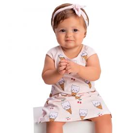 vestido bebe menina sorvete rosa claro 1379 10442