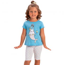 conjunto infantil menina sereia azul rosa 1384 10447