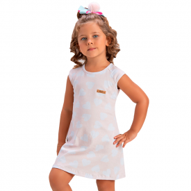 vestido infantil menina coracoes rosa claro 1388 10453