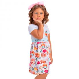 vestido infantil menina neoprene doces branco 1397 10465