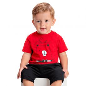 conjunto bebe menino be kind vermelho preto 1414 10478