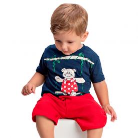 conjunto bebe menino balanco marinho vermelho 1415 10480