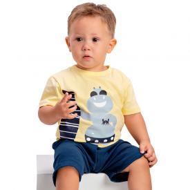 conjunto bebe menino hipopotamo amarelo marinho 1418 10483
