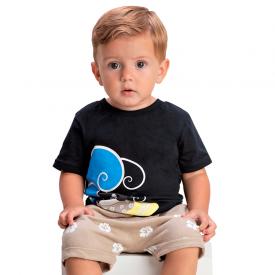 conjunto bebe menino pinguim preto marfim 1419 10485
