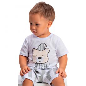 pijama bebe menino urso branco 1424 10490