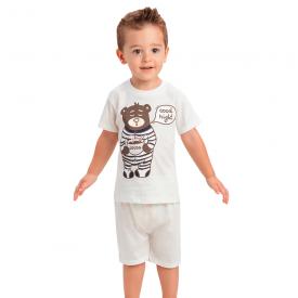 pijama infantil menino good night off white 1437 10509