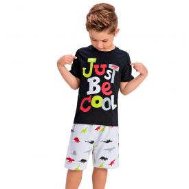 conjunto infantil menino just be cool preto branco 1444 10514