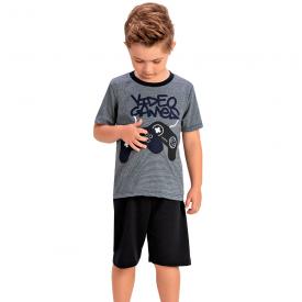conjunto infantil menino video game cinza marinho 1451 10523