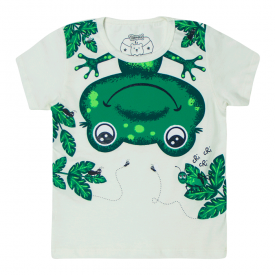 camiseta bebe menino sapinho marfim 12184 10401
