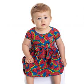 vestido bebe menina calcinha melancia marinho 5103 10619