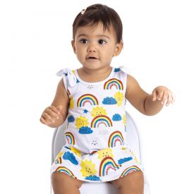 vestido bebe menina arco iris 5110 10629