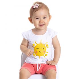 conjunto bebe menina sol branco goiaba 5111 10630
