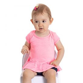 conjunto bebe menina blusa e tapa fraldas pink marinho 5114 10634