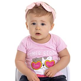blusa bebe menina gatinha rosa 5115 10637