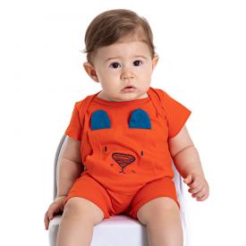 macaquinho bebe menino ursinho laranja 5177 10558