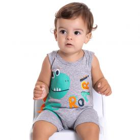 macaquinho bebe menino dinossauro mescla 5182 10566