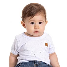 camiseta bebe menino botone branca 5186 10576