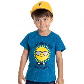 camiseta infantil menino sol azul 5205 10596