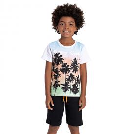 conjunto infantil masculino coqueiros branco preto 5209 10604