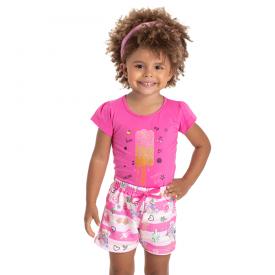 conjunto infantil feminino picole pink rosa 5124 10642