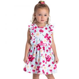 vestido infantil menina cereja azul claro 5129 10643