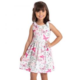vestido infantil menina borboletas pink 5147 10653