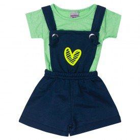 conjunto bebe menina jardineira e blusa coracao marinholima 5113 10633