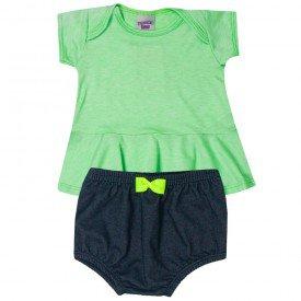 conjunto bebe menina blusa e tapa fraldas limapreto 5114 10636