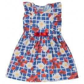 vestido infantil menina cereja azul marinho 5129 10644