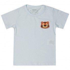 camiseta bebe menino tigre branca 12170 10392