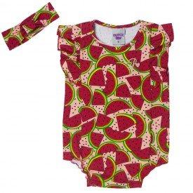 body bebe menina salmao faixa de cabelo melancia 5105 10624