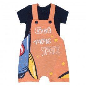 conjunto infantil menino jardineira space e body laranjamarinho kw514 10371