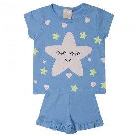 pijama bebe menina estrela azul 1378 10440