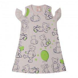 vestido infantil menina ursinhos rosa claro 1386 10451