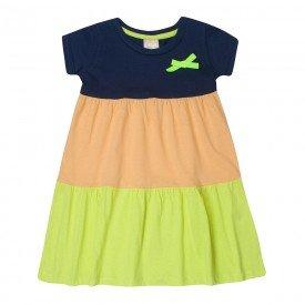 vestido infantil menina recortes marinholaranjaverde 1390 10457