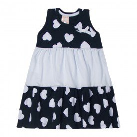 vestido infantil menina recortes coracoes preto 1395 10462