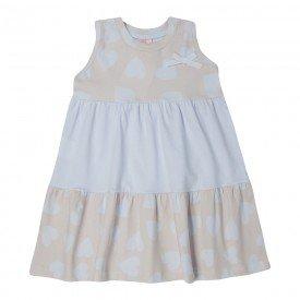vestido infantil menina recortes coracoes rosa claro 1395 10464