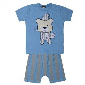 pijama bebe menino urso azul claro 1424 10489