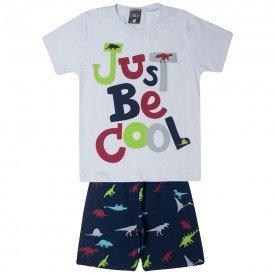 conjunto infantil menino just be cool brancomarinho 1444 10515