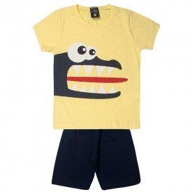 conjunto infantil menino jacare amarelomarinho 1452 10527