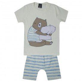 pijama infantil menino abraco off white 1453 10529