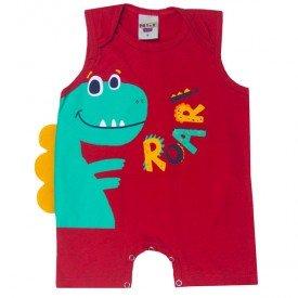 macaquinho bebe menino dinossauro vermelho 5182 10567