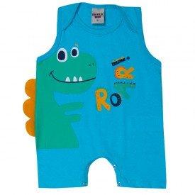macaquinho bebe menino dinossauro azul turquesa 5182 10568