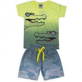 conjunto infantil masculino jacare amarelochumbo 5197 10589