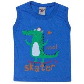 regata infantil menino botone dino skate azul 5203 10595