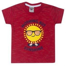 camiseta infantil menino sol vermelho 5205 10597