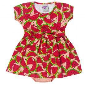 vestido bebe menina melancia salmao donut calcinha 5103 10620