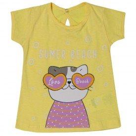 blusa bebe menina gatinha amarela 5115 10639