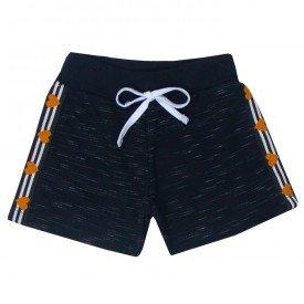 shorts infantil menina preto 5138 10652