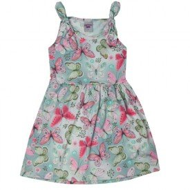vestido infantil menina borboletas azul 5147 10654